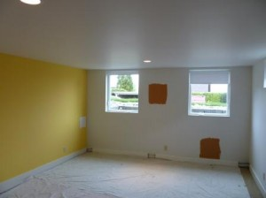 Seattle Interior Media Room Painting Before