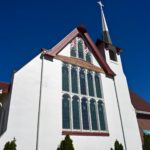 Image of a exterior commercial painting project on a church in Everett, Washington.