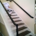 Image of a residential interior handrail restoration for a home in Seattle, Washington.